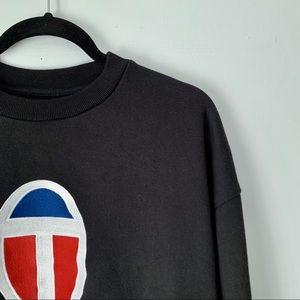Aritzia Tops - Aritzia | black embroidered TNA crewneck sweater